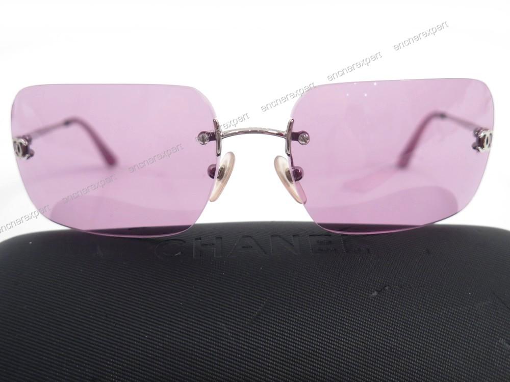 519b75859c271d Lunettes de soleil CHANEL 4017 c.124 76 logo rose - Authenticité garantie -  Visible en boutique
