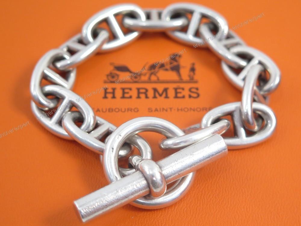 Cliquez sur les petites photos pour agrandir l image. BRACELET HERMES CHAINE  ... eae6a9bd208