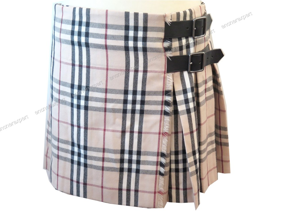 cde301ea494 Jupe courte kilt burberry tartab check 42 l en - Authenticité garantie -  Visible en boutique