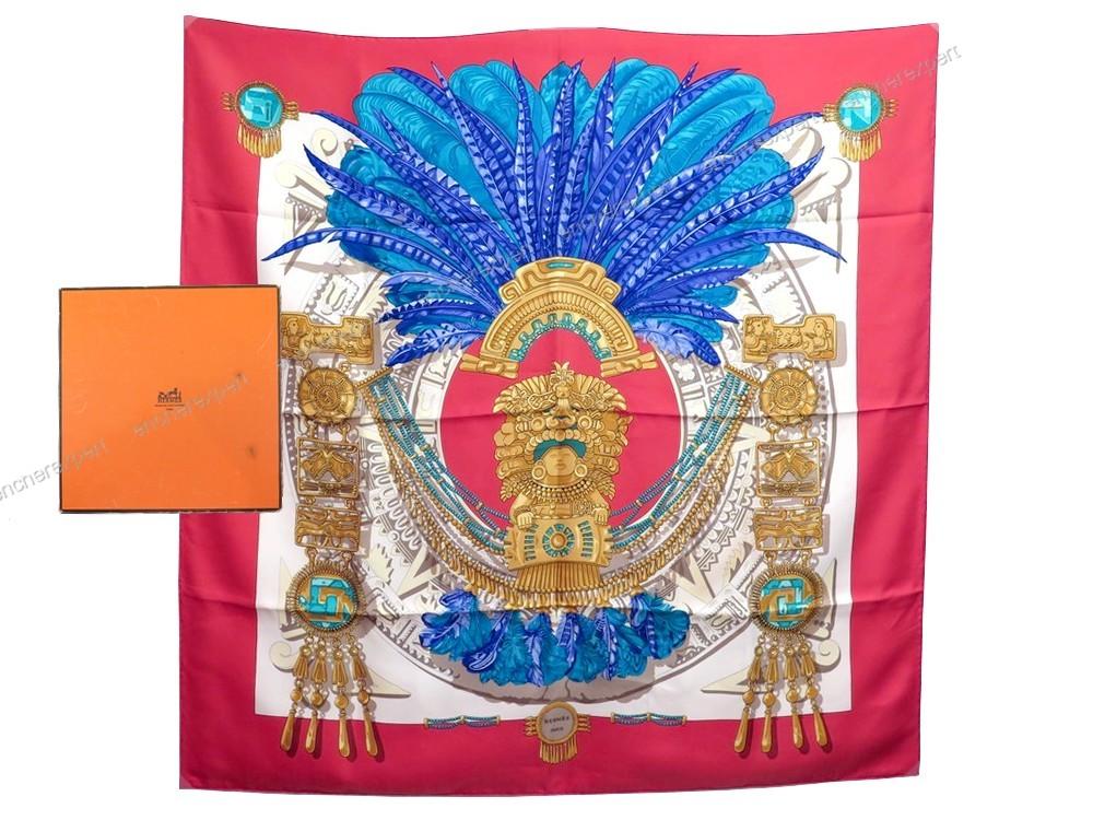 1accd7f558c9 Cliquez sur les petites photos pour agrandir l image. NEUF FOULARD HERMES  MEXIQUE ...