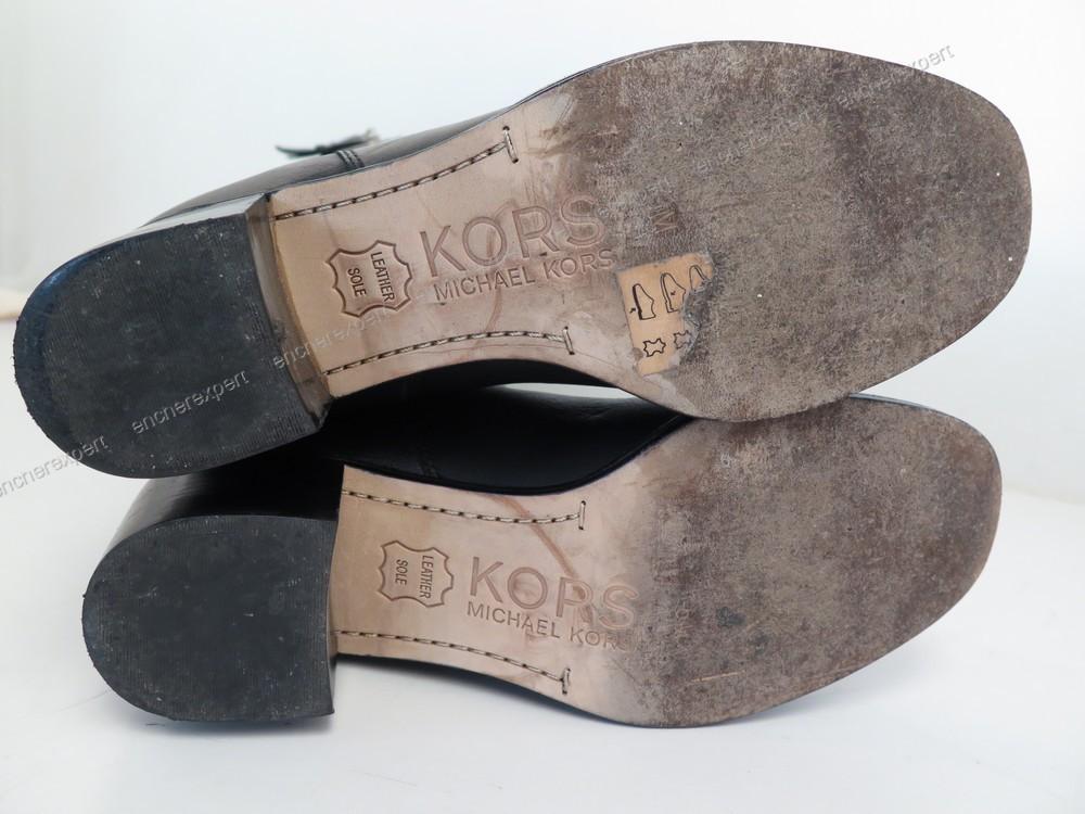 neuf paire de bottes michael kors 6m 37 37 5 cuir authenticit garantie visible en boutique. Black Bedroom Furniture Sets. Home Design Ideas