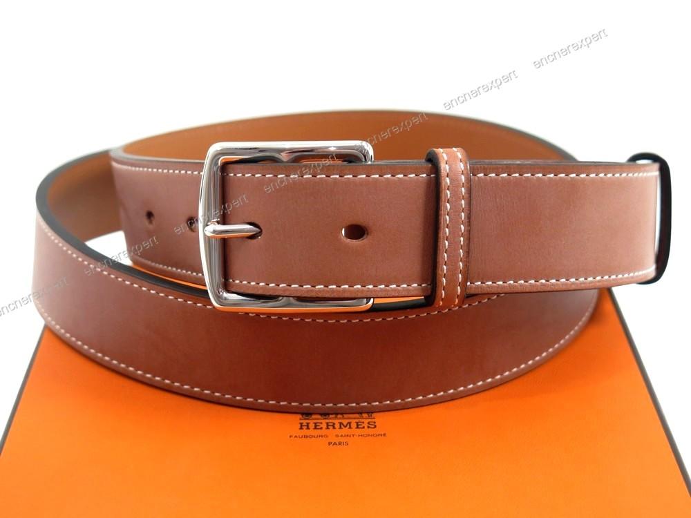 64f1f2d12470 Neuf ceinture HERMES etriviere 32 mm t 105 cuir - Authenticité ...