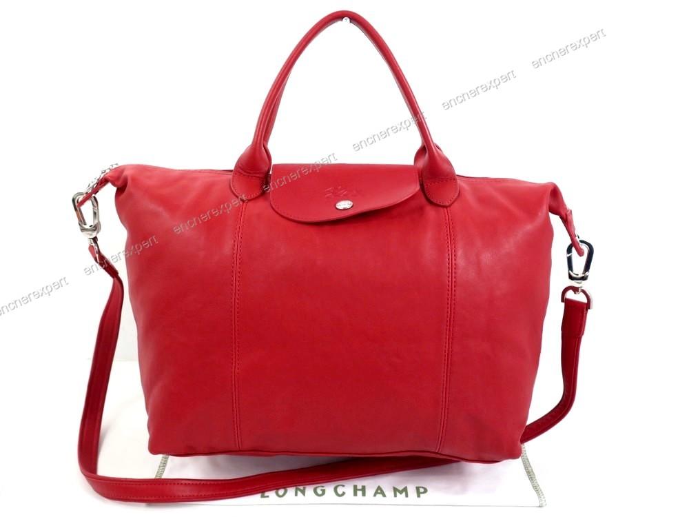 Sac Longchamp Cuir Rouge