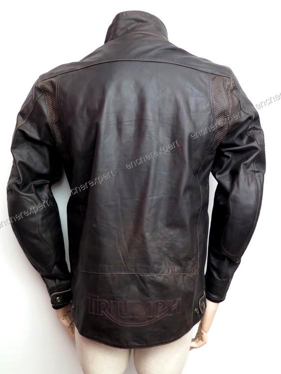 blouson de moto triumph veste homme 52 l en cuir authenticit garantie visible en boutique. Black Bedroom Furniture Sets. Home Design Ideas