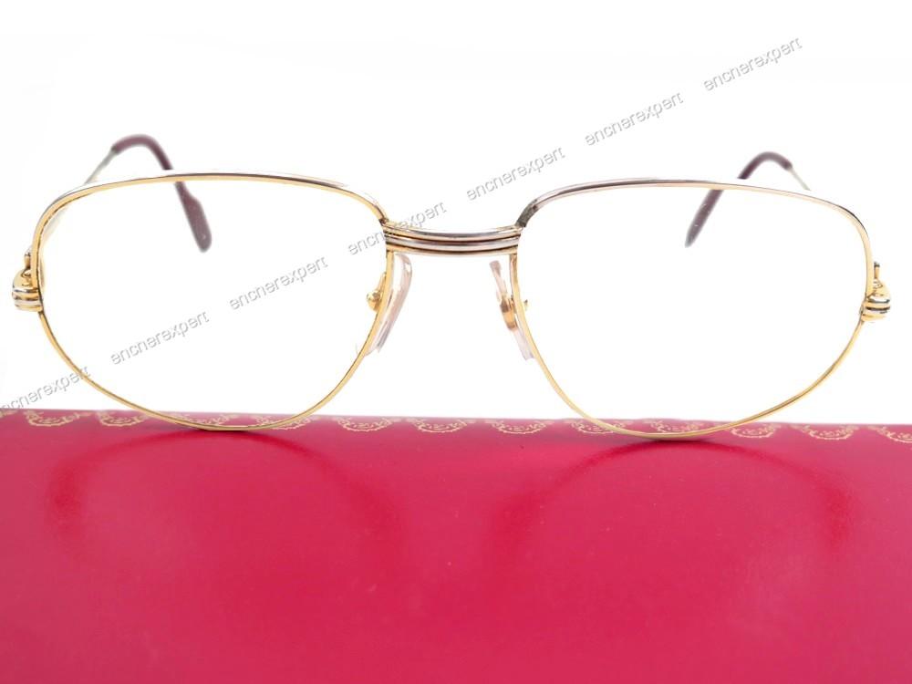 e12c9a3234175c Vintage lunettes de vue monture cartier trinity en - Authenticité ...