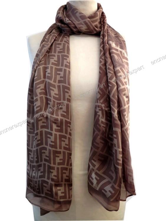 Foulard fendi echarpe etole monogram en 100 soie - Authenticité garantie -  Visible en boutique 32b713c1ca3