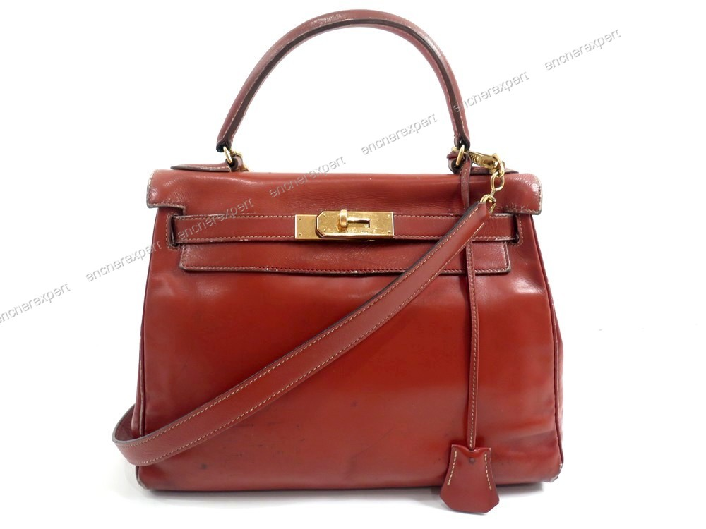 Authenticité Hermes Kelly A Main 28 Sac Vintage Bandouliere Yfg76by
