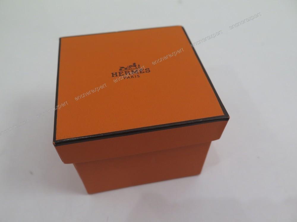 neuf ancienne boite ecrin pour bague hermes authenticit garantie visible en boutique. Black Bedroom Furniture Sets. Home Design Ideas
