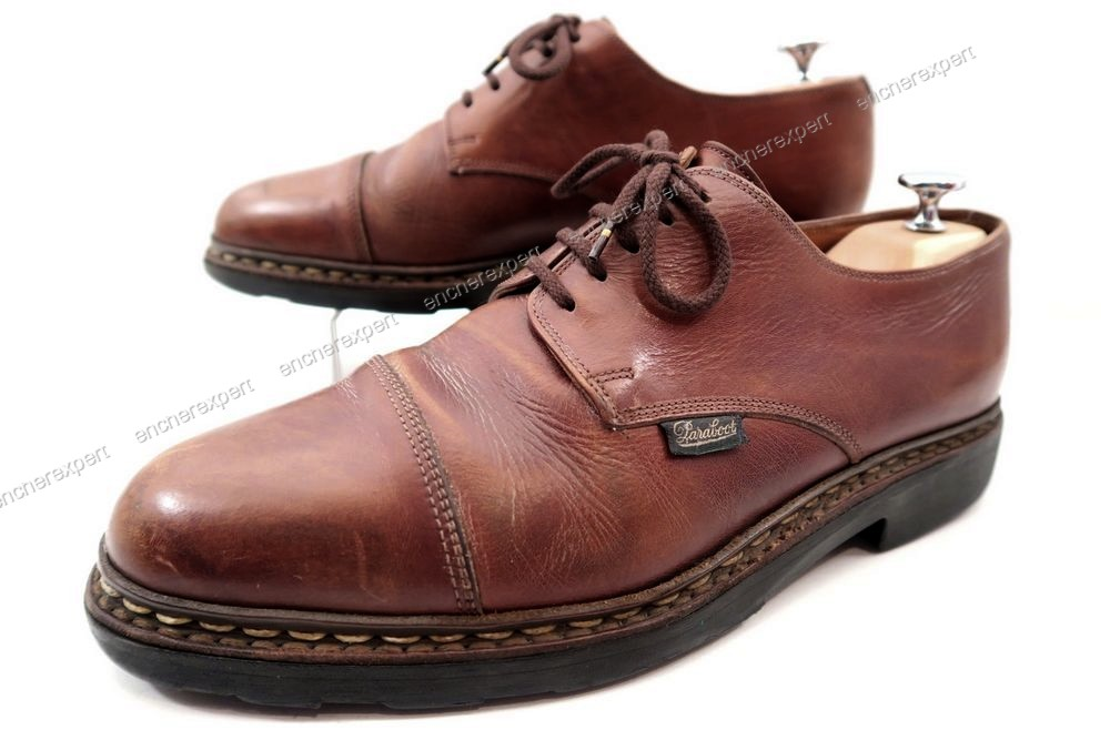 Vintage chaussures paraboot derby 9.5 43.5 cuir