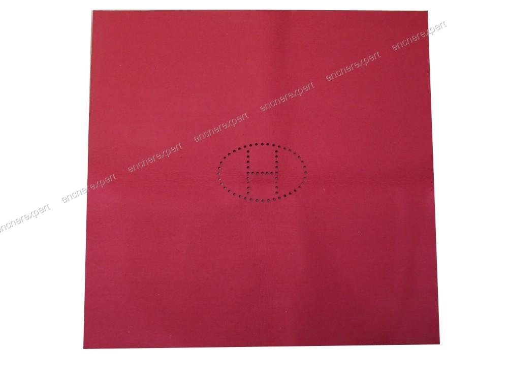 tapis de jeu hermes en feutrine bordeaux 74x74cm authenticit garantie visible en boutique. Black Bedroom Furniture Sets. Home Design Ideas