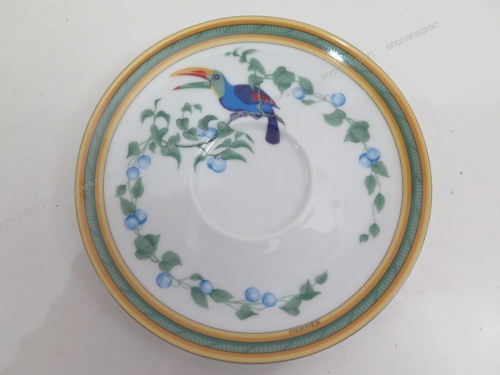 service a the cafe hermes toucans en porcelaine authenticit garantie visible en boutique. Black Bedroom Furniture Sets. Home Design Ideas