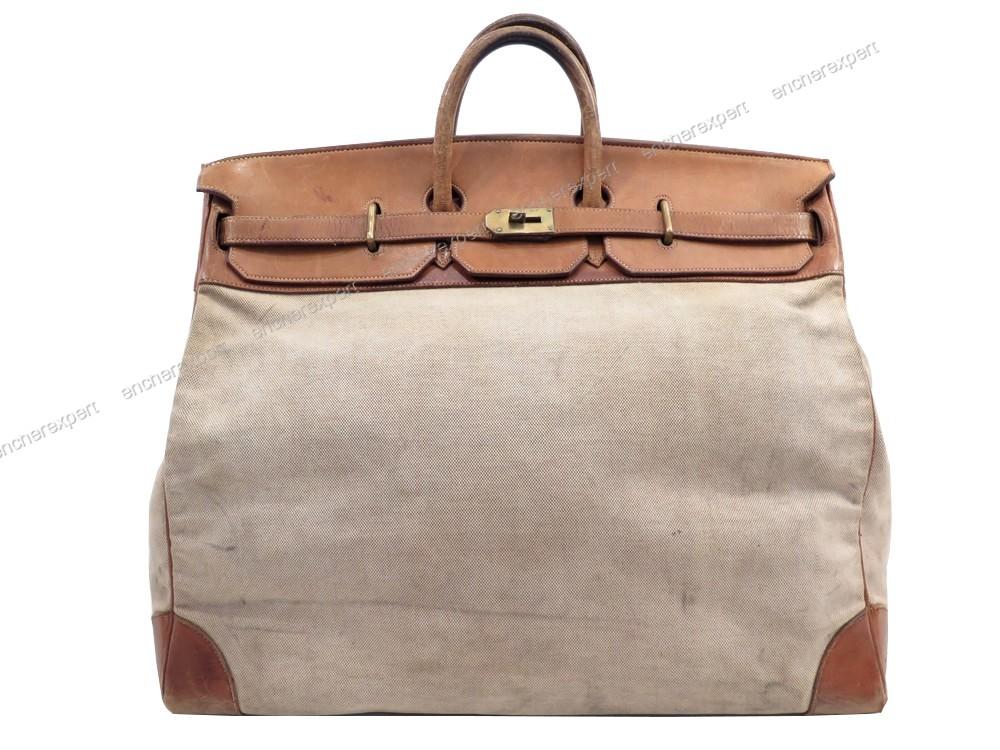 Vintage sac de voyage a main HERMES birkin haut a ...