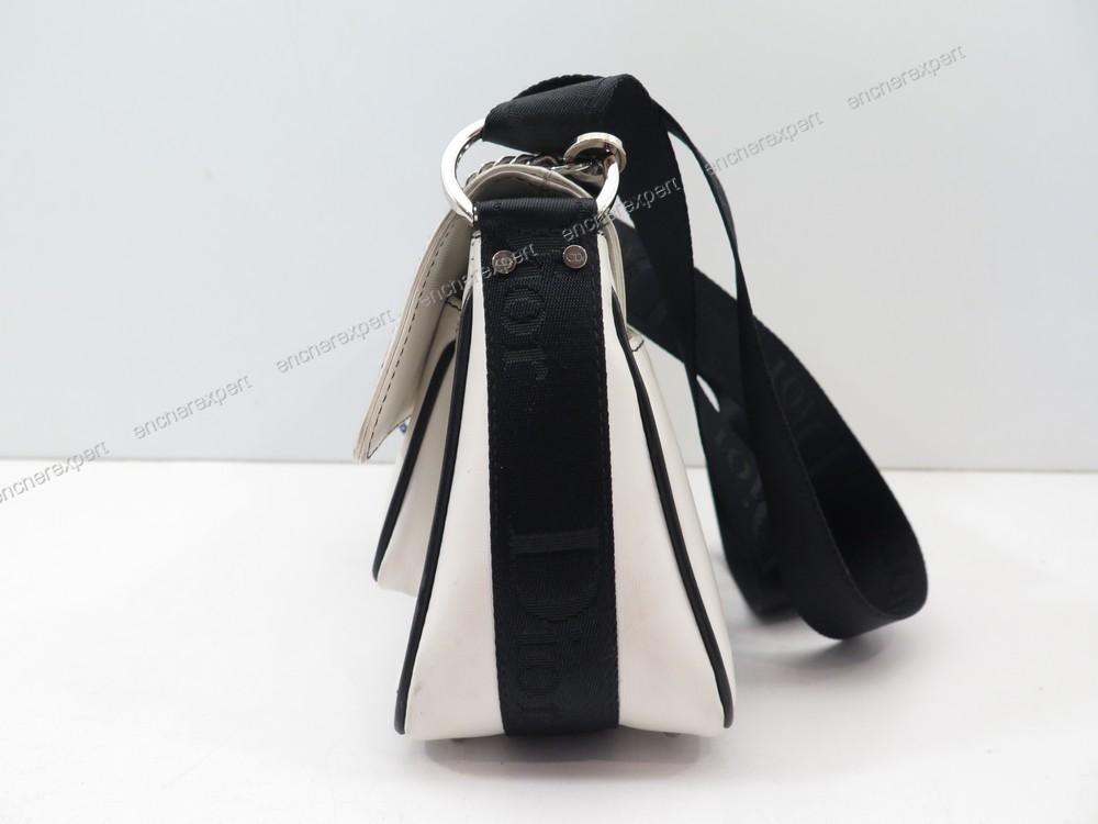 Sac A Main Blanc Christian Dior : Sac a main christian dior en toile blanc et noir authenticit? garantie visible boutique