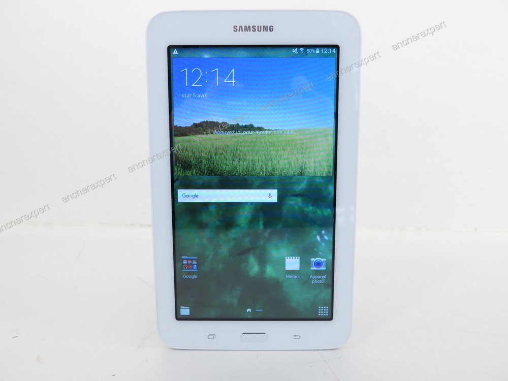 tablette tactile samsung galaxy tab 3 8go sm t113 authenticit garantie visible en boutique. Black Bedroom Furniture Sets. Home Design Ideas