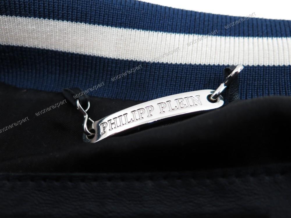 veste en cuir philippe plein homme l 52 54 authenticit garantie visible en boutique. Black Bedroom Furniture Sets. Home Design Ideas
