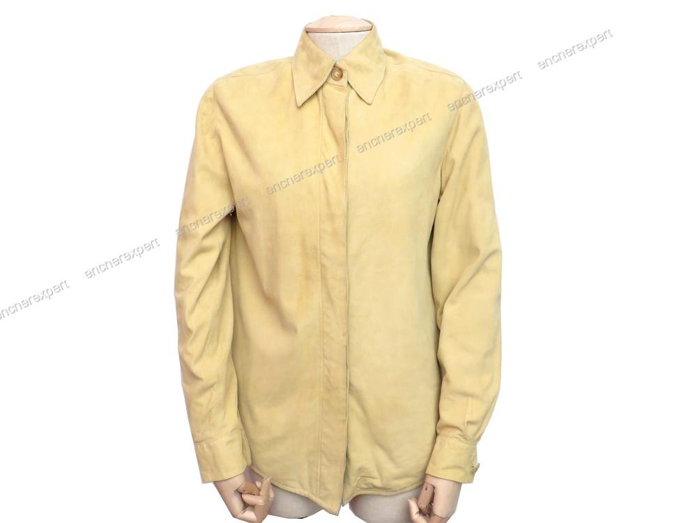 Veste jaune en daim