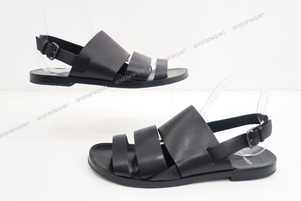 neuf chaussures pierre hardy sandales 42 cuir noir authenticit garantie visible en boutique. Black Bedroom Furniture Sets. Home Design Ideas