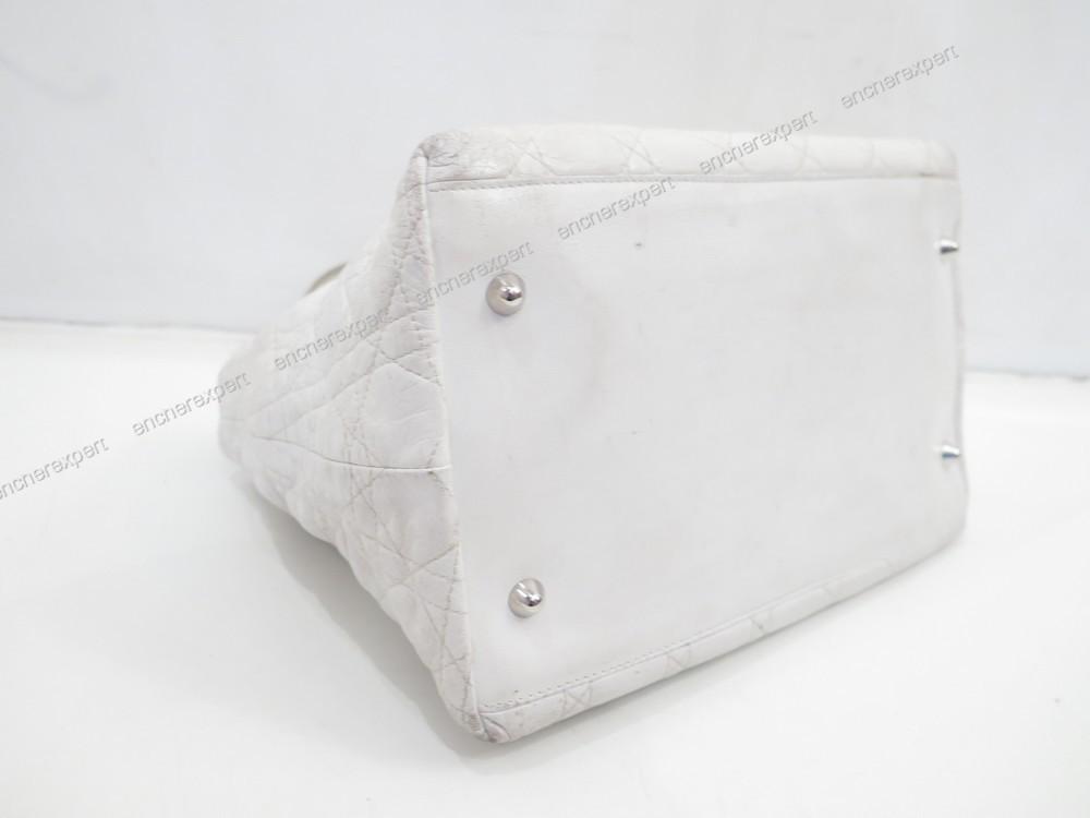 Sac A Main Blanc Christian Dior : Sac a main christian dior lady gm en cuir blanc authenticit? garantie visible boutique