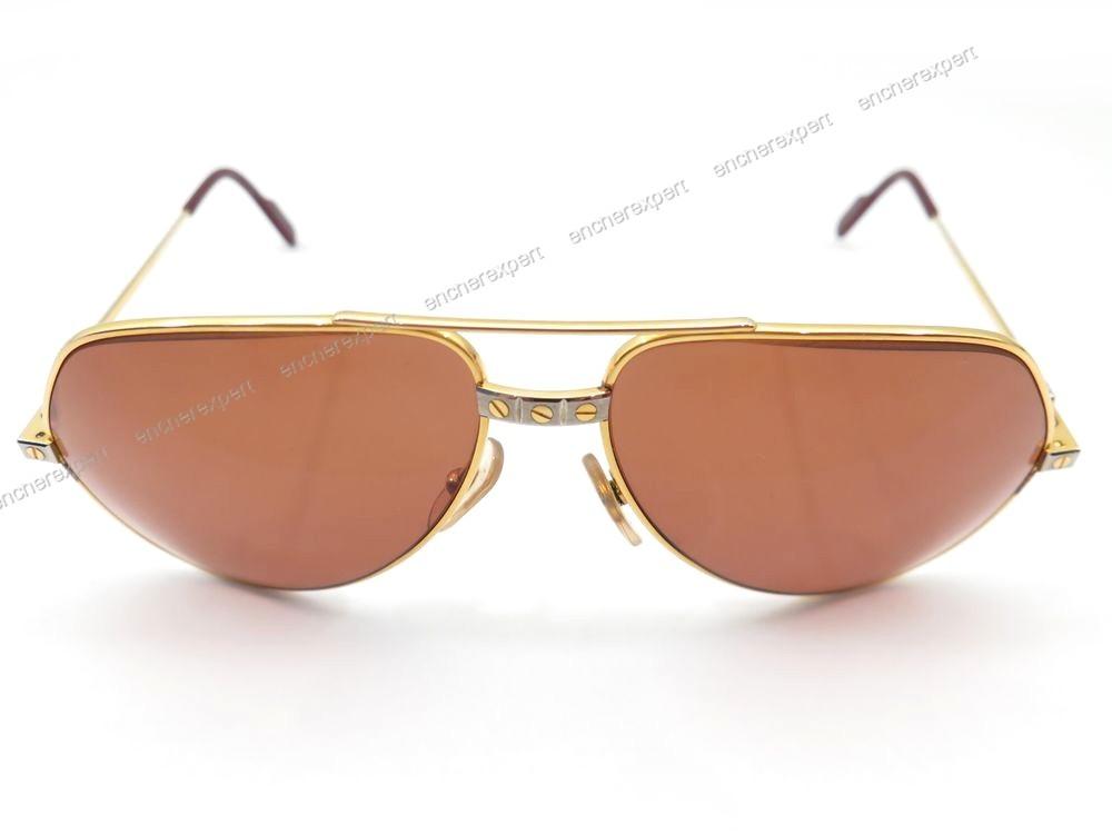 Neuf vintage lunettes de soleil must de cartier - Authenticité garantie -  Visible en boutique e6ee7e386728