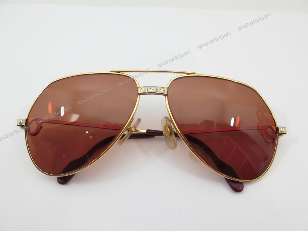 Neuf vintage lunettes de soleil must de cartier - Authenticité ... b8934b8c00da