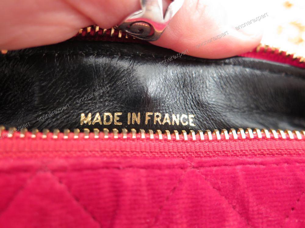 Sac a main pochette banane CHANEL velours rouge ...