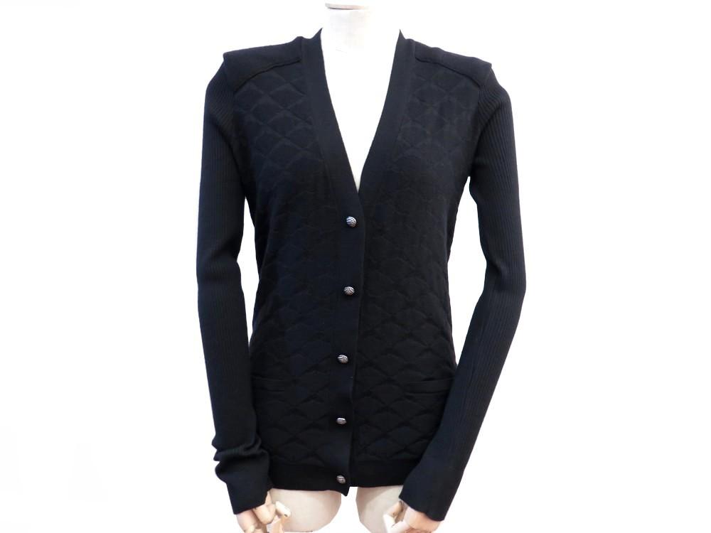 Neuf gilet CHANEL femme 42 l en cachemire noir - Authenticité garantie -  Visible en boutique 29dee1b403f