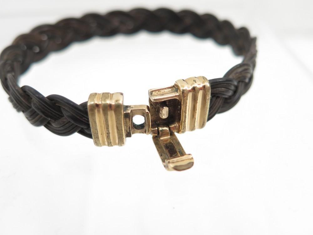 vintage bracelet tresse albanu en poils d elephant. Black Bedroom Furniture Sets. Home Design Ideas