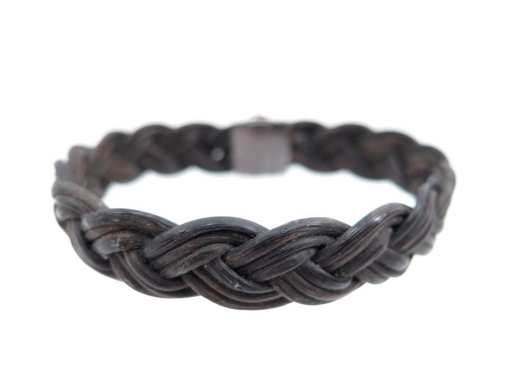 bracelet tresse en poil d 39 elephant noir et or. Black Bedroom Furniture Sets. Home Design Ideas