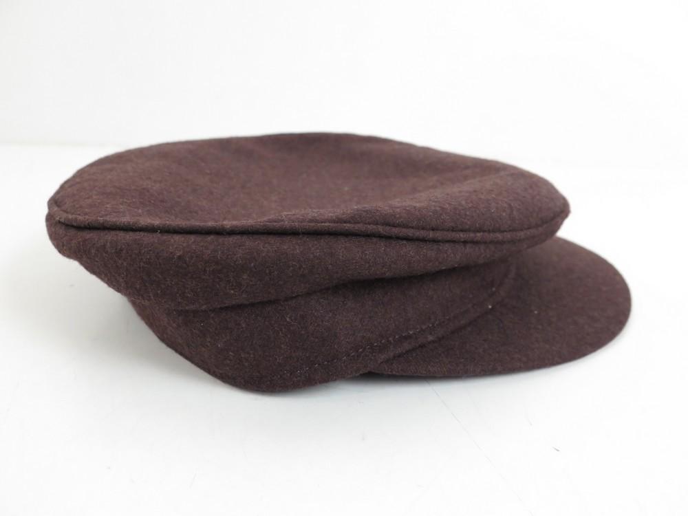 Neuf casquette HERMES t 57 en laine marron homme ...