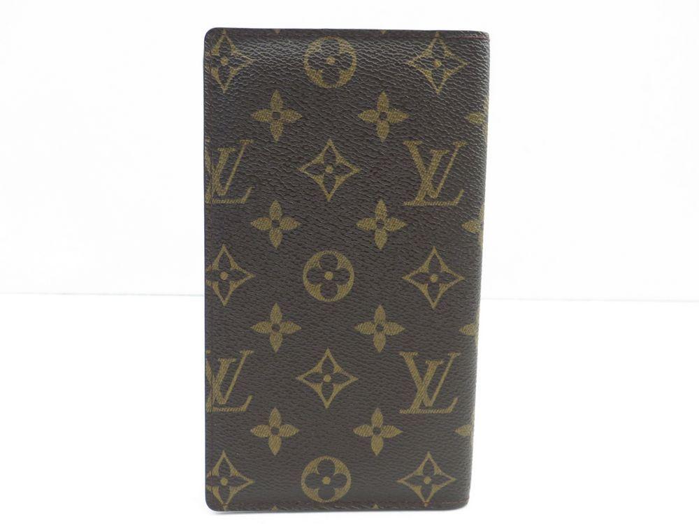 Porte chequier louis vuitton toile monogram lv authenticit garantie visible en boutique - Porte chequier louis vuitton ...