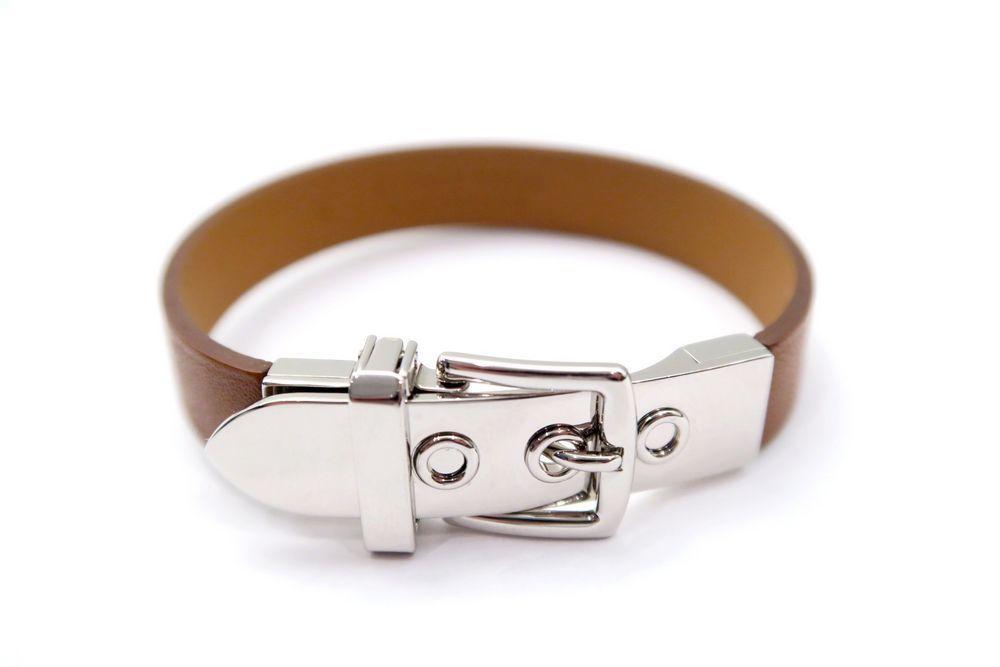 vente chaude en ligne 917dd 11866 Neuf bracelet HERMES ceinture xs en cuir et acier ...