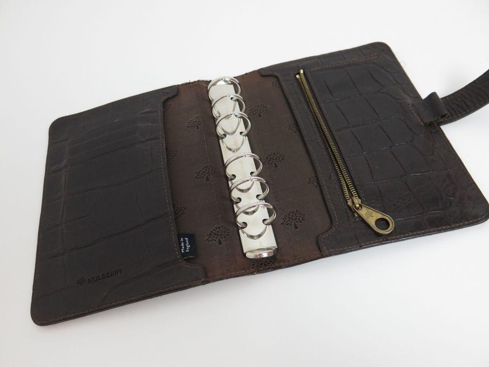 vintage porte agenda mulberry en cuir facon authenticit garantie visible en boutique. Black Bedroom Furniture Sets. Home Design Ideas
