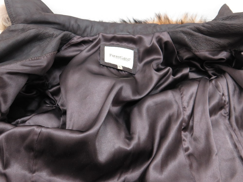 38 Authenticité 40 Manteau Cuir Neuf Forestland Femme Marron Xl qzA1t