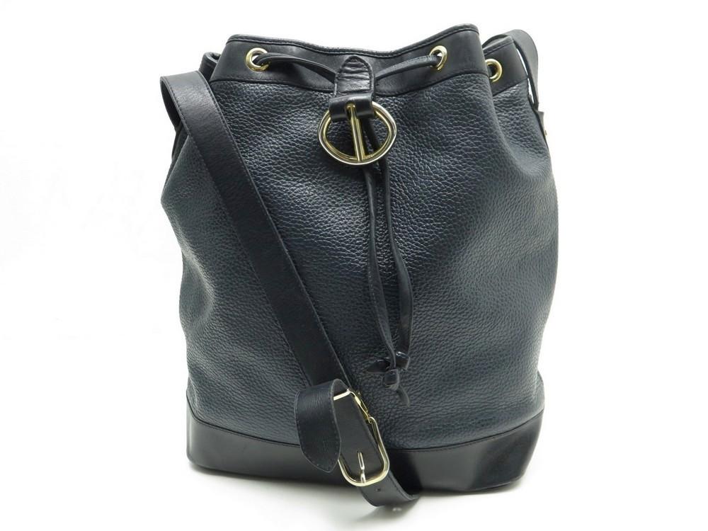 854eb842e1c Vintage sac a main christian DIOR seau en cuir - Authenticité garantie -  Visible en boutique