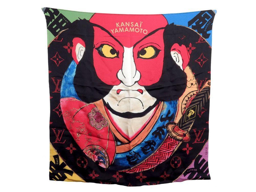 Neuf rare foulard LOUIS VUITTON x kansai yamamoto - Authenticité garantie -  Visible en boutique 4d809d5368e
