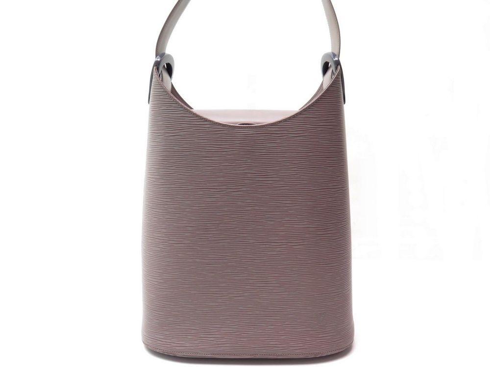 Sac a main LOUIS VUITTON verseau en cuir epi gris - Authenticité garantie -  Visible en boutique 333b345e197