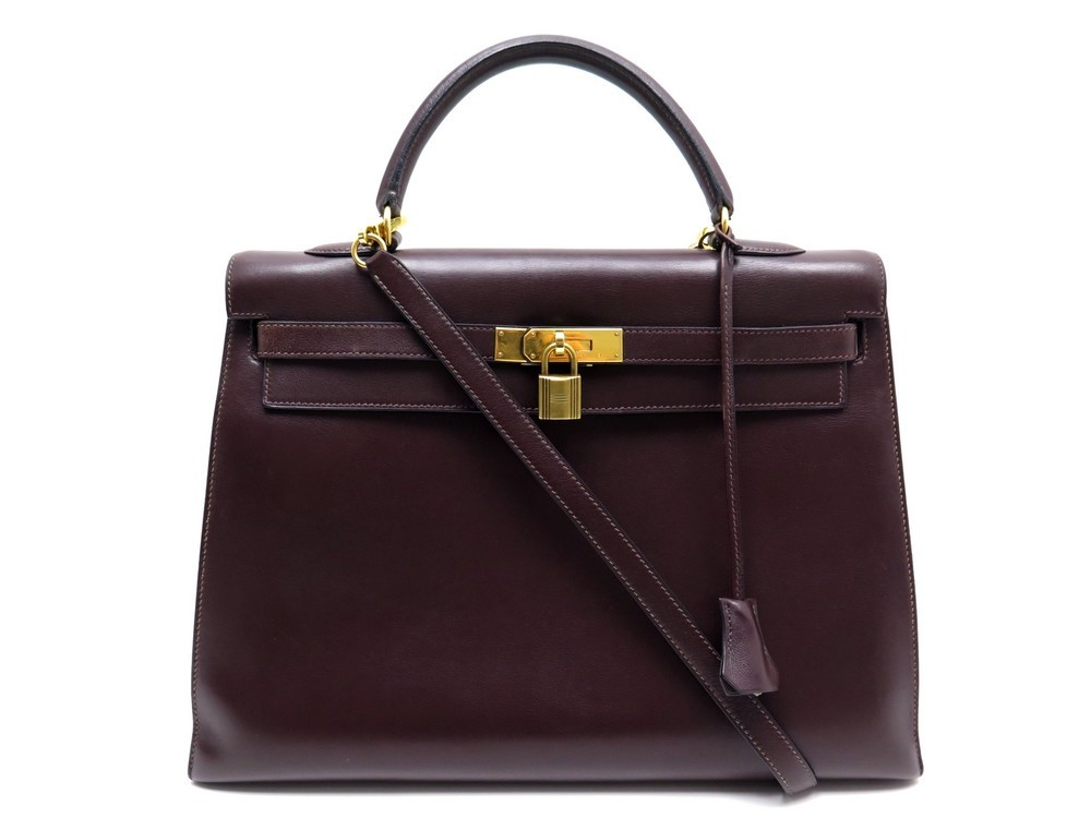 805e79b0498 SAC A MAIN HERMES KELLY SELLIER 36 CUIR EVERGRAIN.