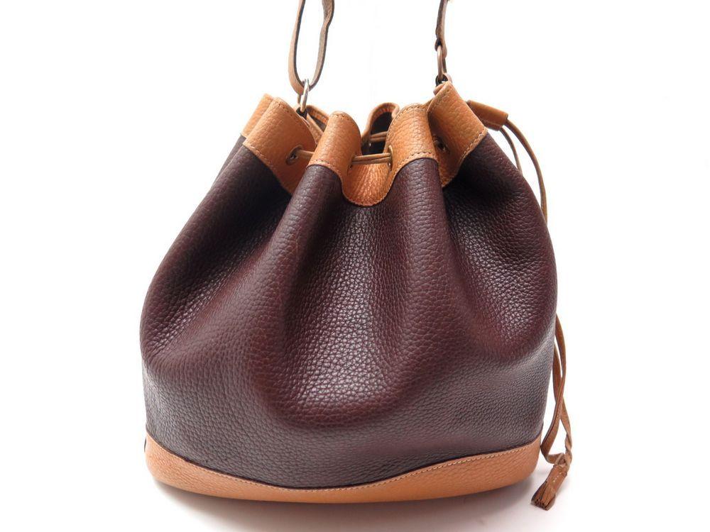 343869e12c Vintage sac a main HERMES market seau en cuir - Authenticité ...
