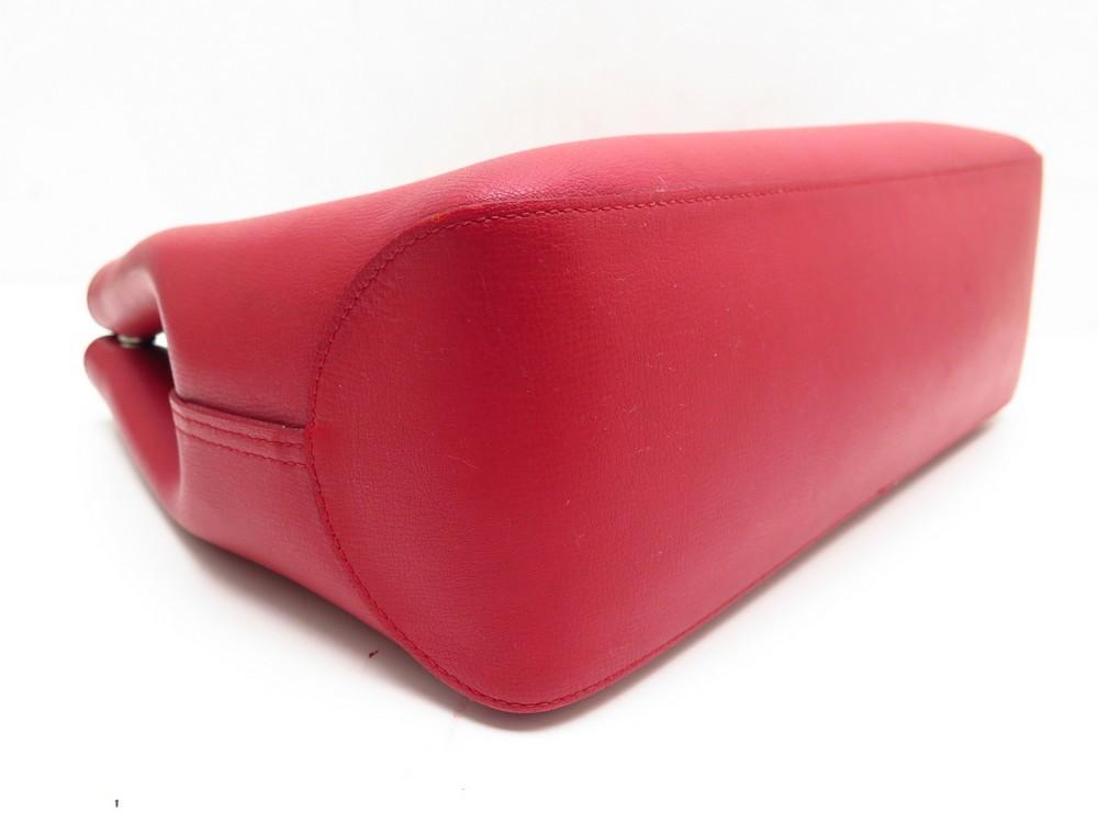 Handbag Authenticity New Longchamp Roseau Red Reversible qtwXw76Z
