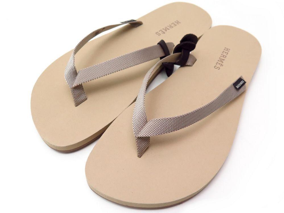 Neuf Tong 44 Authenticité Hermes Sandales Isolella Chaussures OknP08w