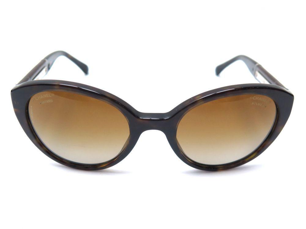 b2e85fa80b Lunettes de soleil CHANEL plastique marron etui - Authenticité garantie -  Visible en boutique