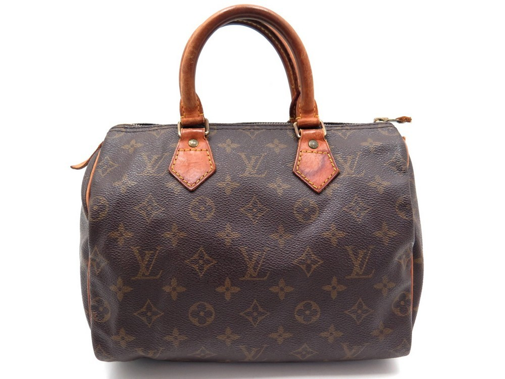 a8ce22311a SAC A MAIN LOUIS VUITTON SPEEDY 25 M41109 TOILE MONOGRAM LV MARRON ...